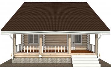 Фото #10: Красивый деревянный дом РС-183 из бревна