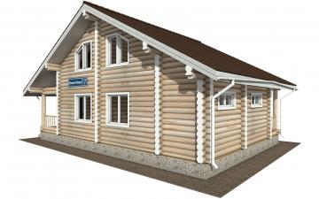 Фото #1: Красивый деревянный дом РС-173 из бревна