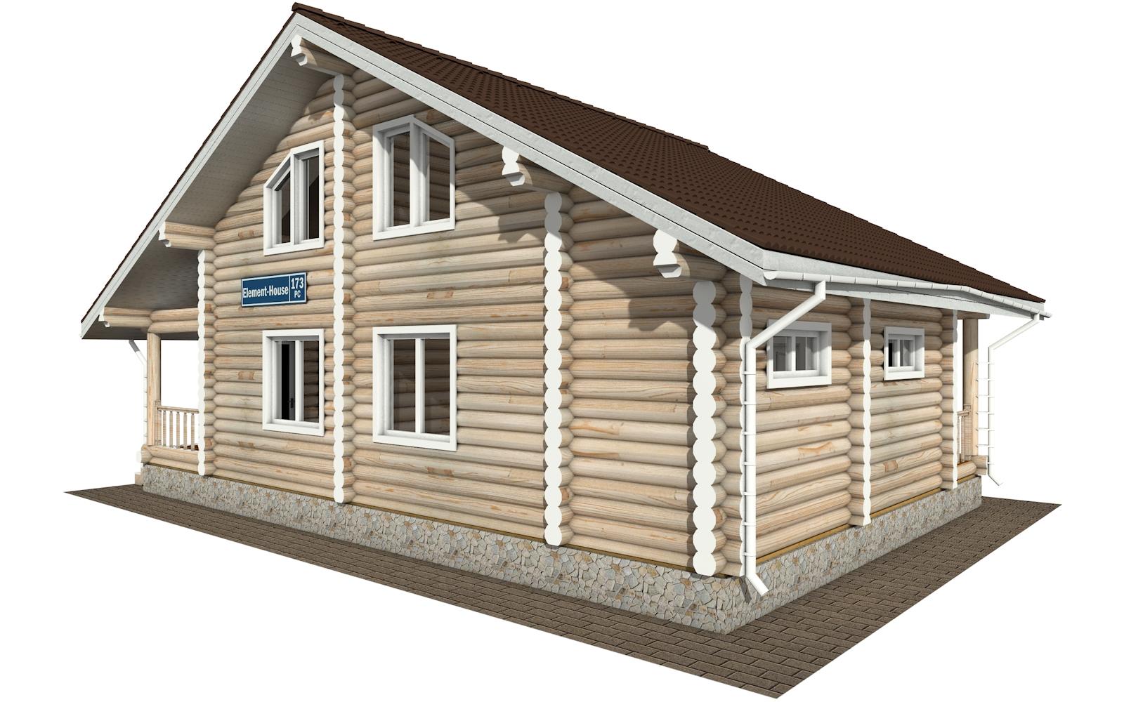 РС-173 - деревянный дома из бревна (из сруба)