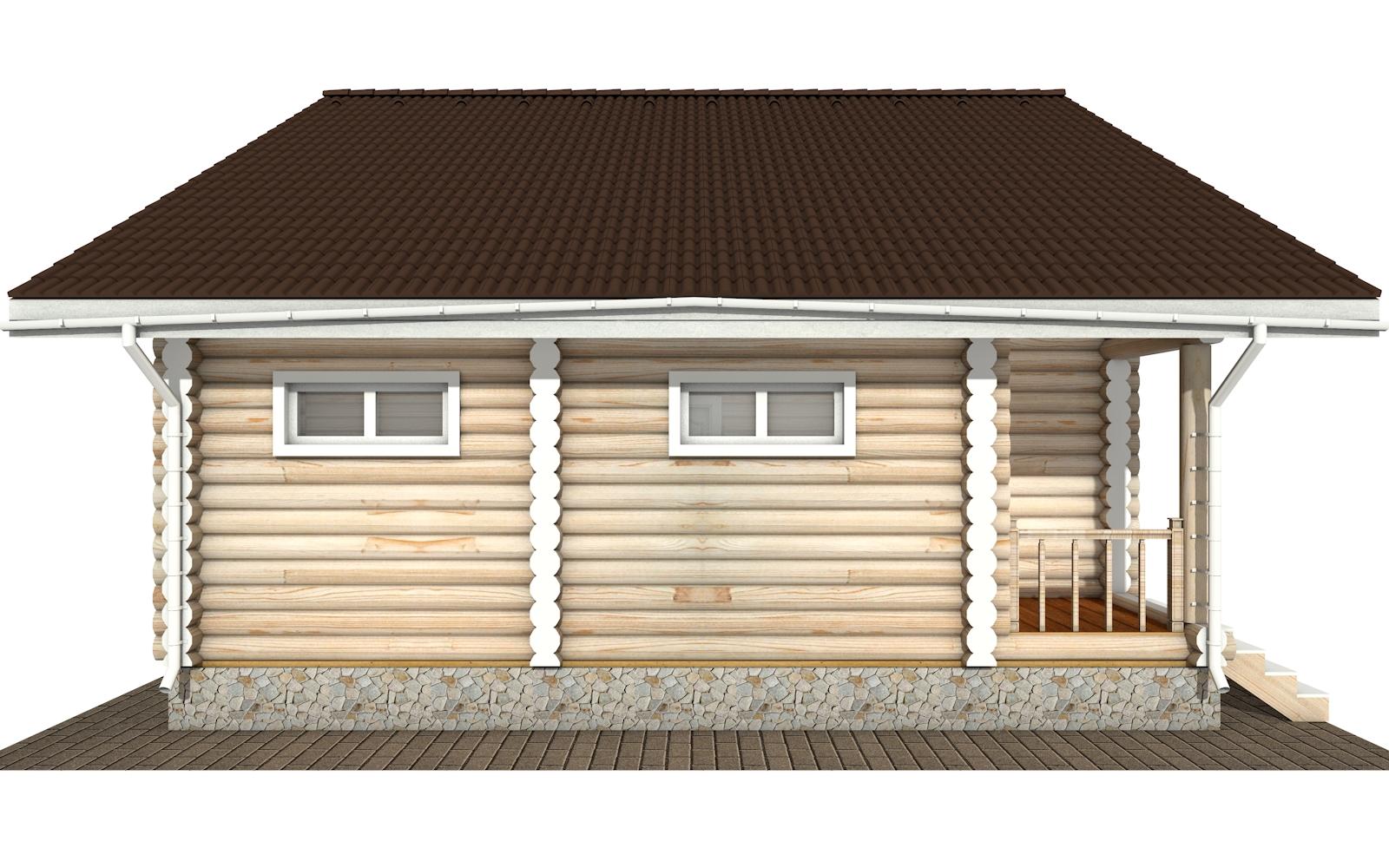 Фото #10: Красивый деревянный дом РС-173 из бревна