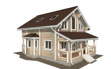 Фото #1: Красивый деревянный дом РС-172 из бревна
