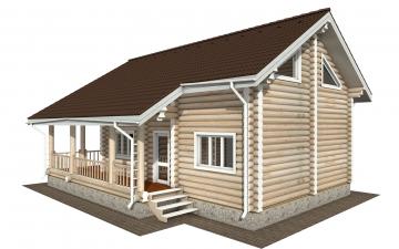 Фото #2: Красивый деревянный дом РС-174 из бревна