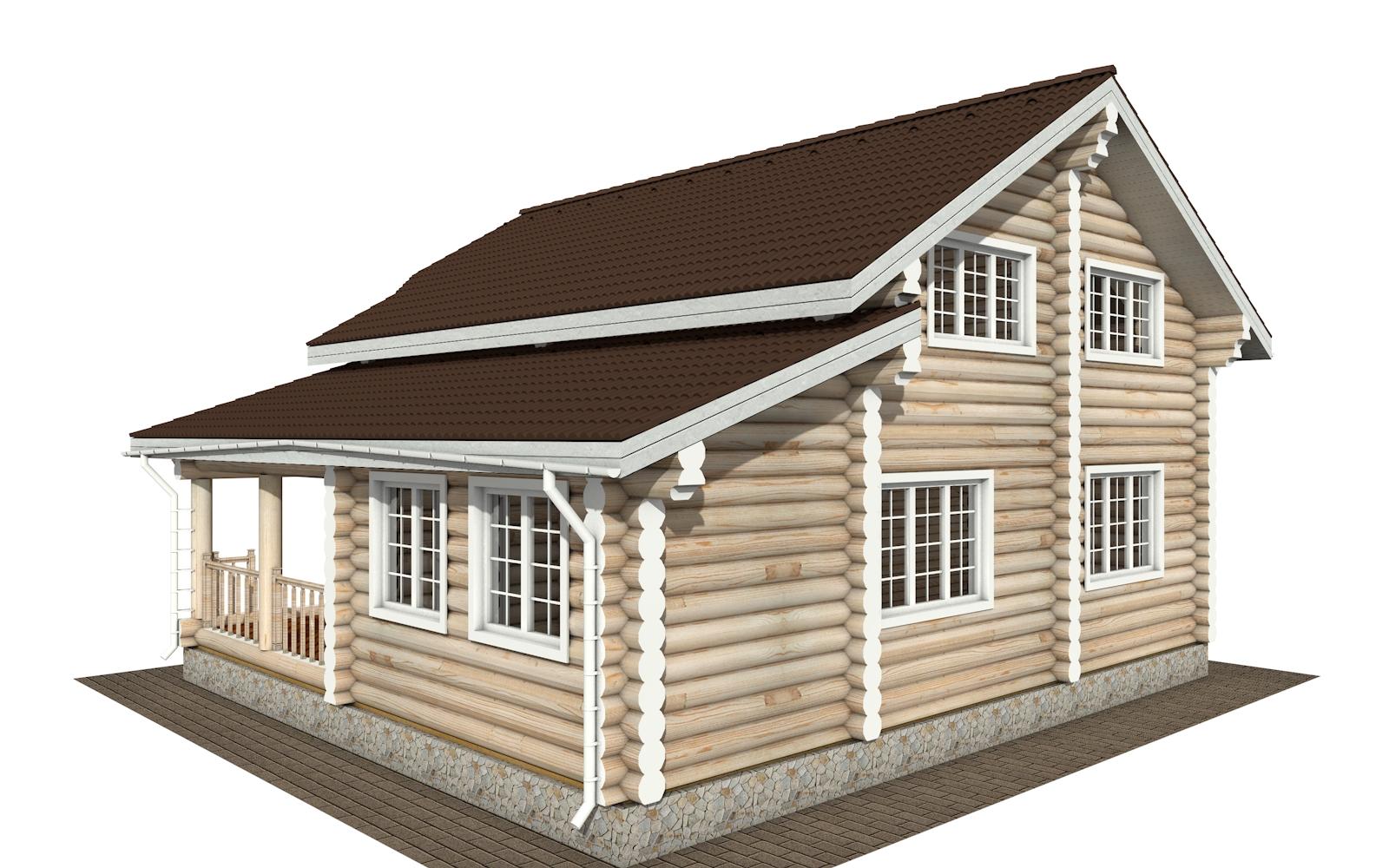 Фото #2: Красивый деревянный дом РС-175 из бревна