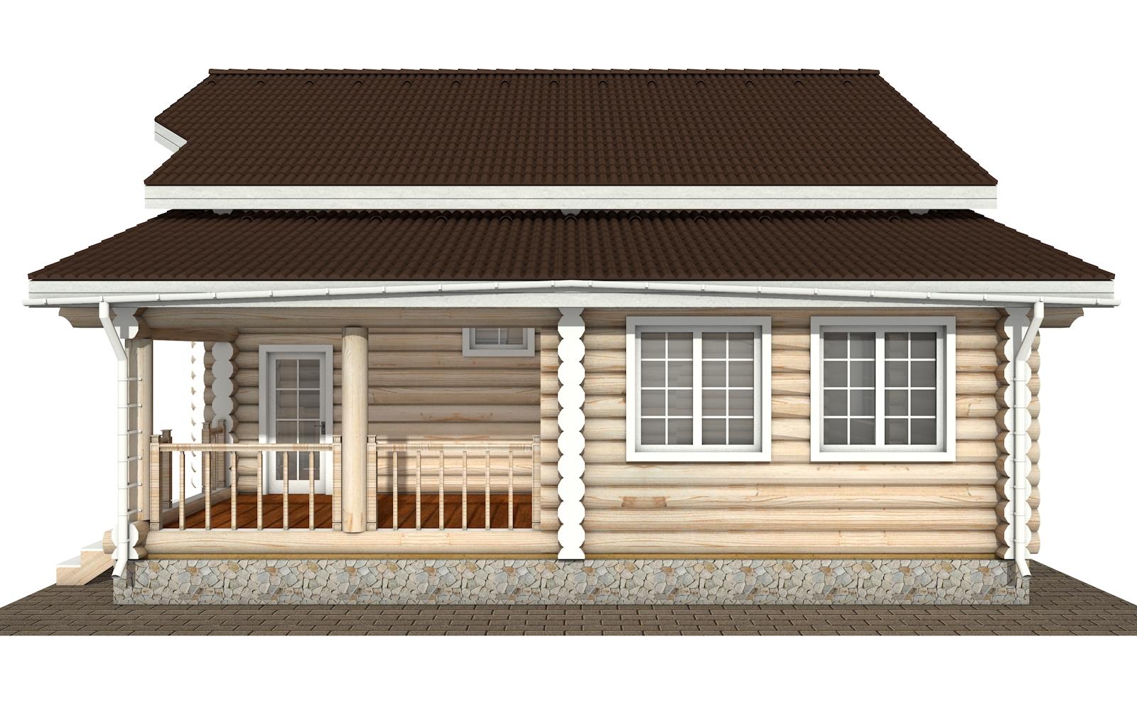 Фото #10: Красивый деревянный дом РС-175 из бревна
