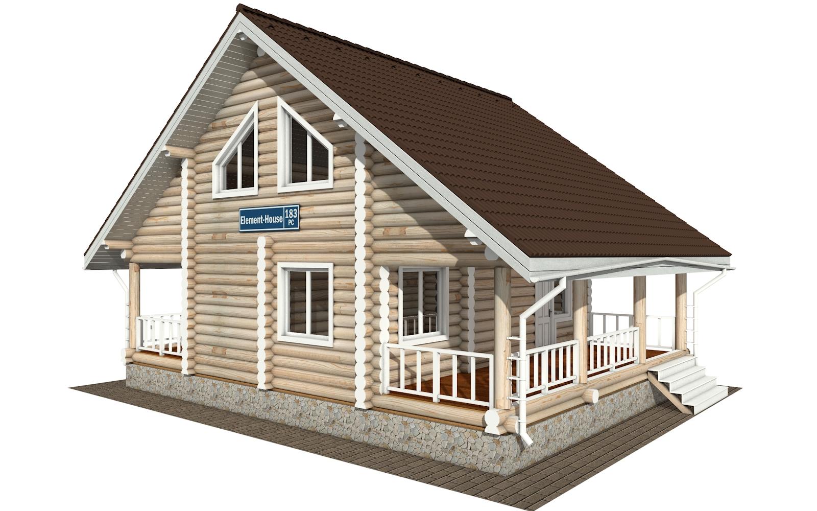 Фото #2: Красивый деревянный дом РС-183 из бревна