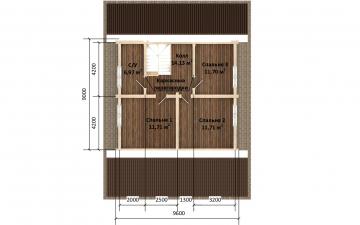 Фото #4: Красивый деревянный дом РС-173 из бревна