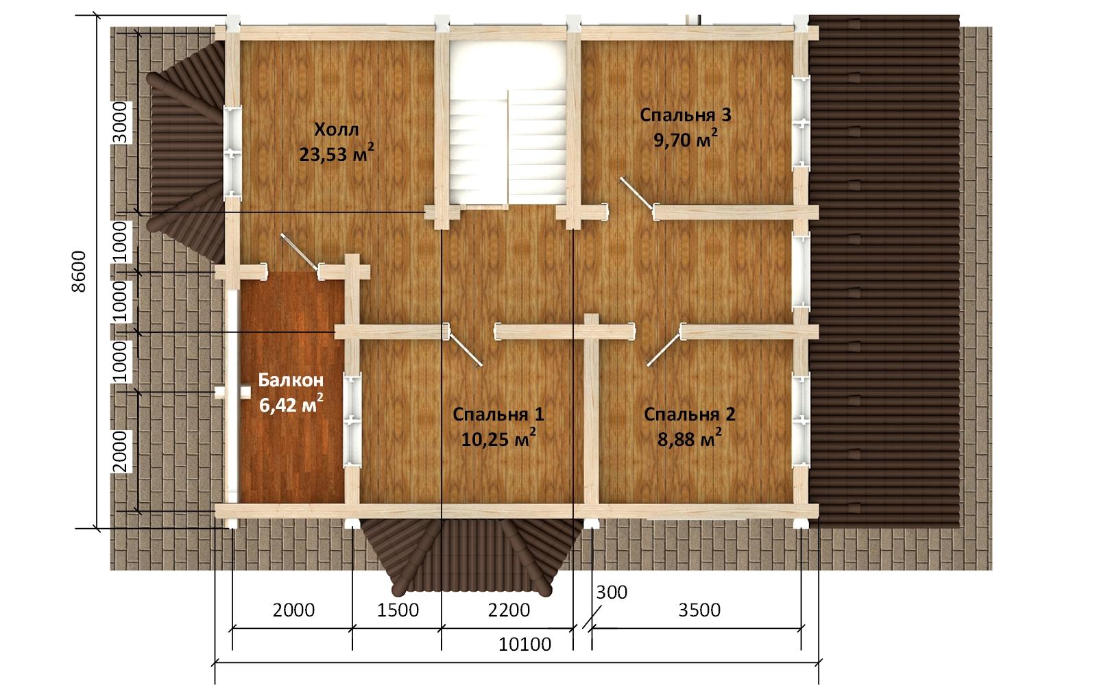Фото #4: Красивый деревянный дом РС-172 из бревна